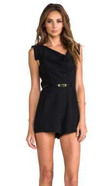 Black Halo Jackie-O Romper in Black