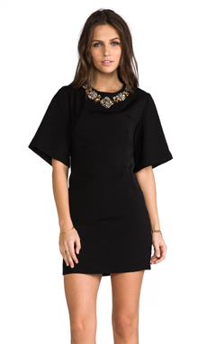 BLAQUE LABEL Embellished Dress in Black