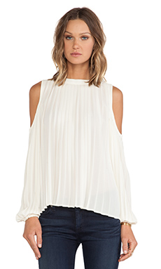 BLAQUE LABEL Cold Shoulder Top en Crème