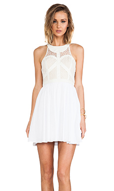 bless'ed are the meek Organic Dress in White
