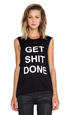 BLQ Basics Get Shit Done Graphic Tank in Black