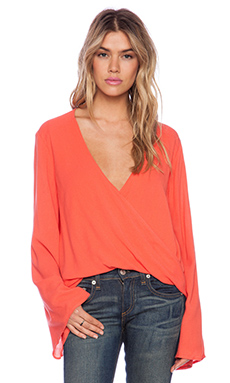 Blue Life Hayley Top in Coral