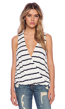 Blue Life Sleeveless Hayley Top in Blue Stripe