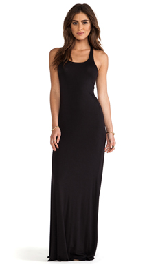 Bella Luxx Relaxed Racerback Maxi Dress in Black