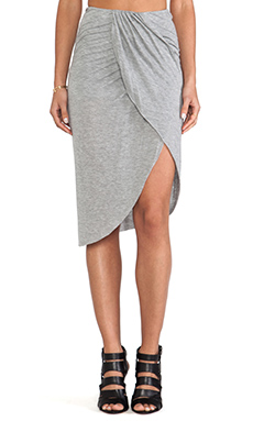 Bella Luxx Cross Front Skirt in Heather Grey