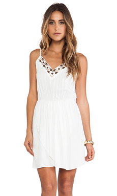 Bobi BLACK Mini Dress in Ivory