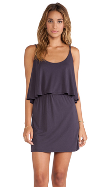 Bobi Modal Jersey Tank Dress in Deep Grey