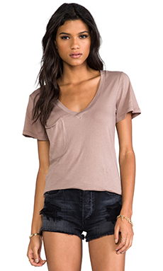 Bobi Lightweight Jersey Pocket Tee in Java