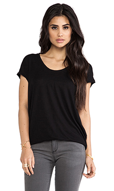Bobi Slub Short Sleeve Tee in Black