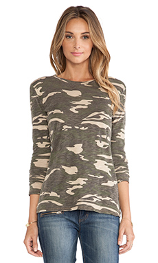 Bobi Long Sleeve Tee in Camo
