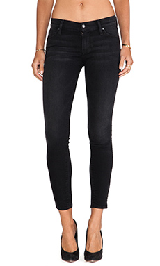 Black Orchid Ankle Zip Skinny in Ebony