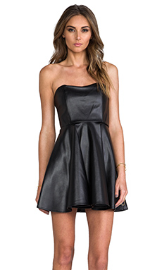 Boulee Haily Vegan Leather Dress in Black