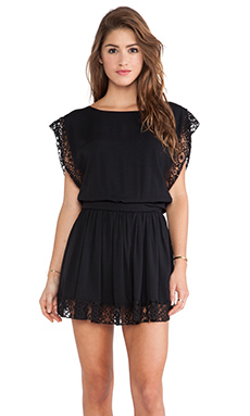 Boulee Saba Dress in Black Lace