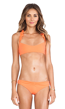 BOYS + ARROWS Wilma The Wreck Bikini Top in Blood Orange Mimosa