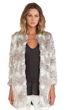 BSABLE Stella Faux Fur Jacket in Special Beige