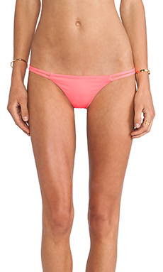 Bettinis Sports Illustrated Heart Bikini Bottom in Neon Flame