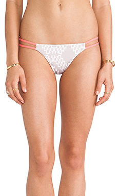 Bettinis Reversible Heart Bikini Bottom in Coral Desert