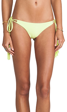 Bettinis Chloe Tie Side Bottom in Acid Lime