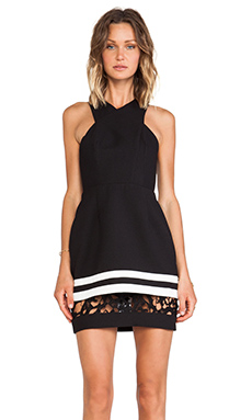 Cameo Vowels Dress in Black