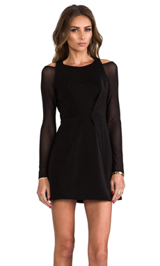 Cameo Fire We Make Long Sleeve Dress in Black