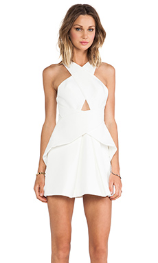 Cameo Tigerskin Dress in Ivory