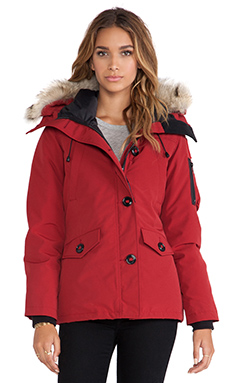 Canada Goose Montebello Parka With Coyote Fur Trim in Redwood