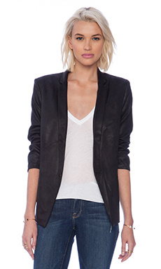 Capulet Notch Collar Blazer in Black