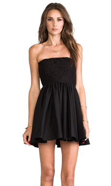 Casper & Pearl Lux Strapless Dress in Black