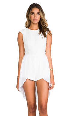 Casper & Pearl Dakota Jumpsuit in White Crochet
