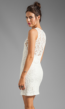 Central Park West Belize Dress in Ivory/Ivory