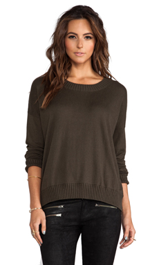 Central Park West Hamilton Square Camouflage Sweater in Olive