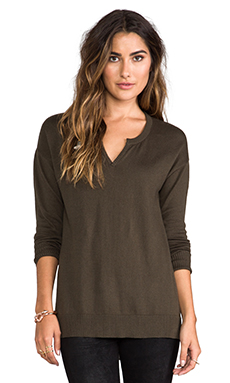 Central Park West Astor Court Sweater in Olive