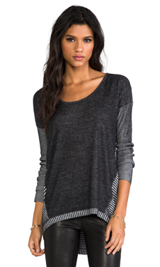 Central Park West Stanton Street Pullover in Black
