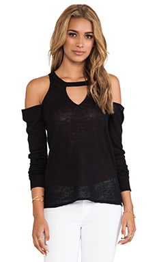 Central Park West Sao Paulo Cut Out Pullover in Black