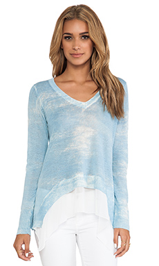 Central Park West Lake Como Pullover in Chambray