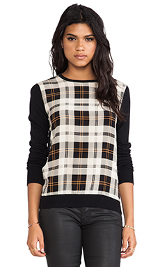 Central Park West Schenectady Pullover in Plaid