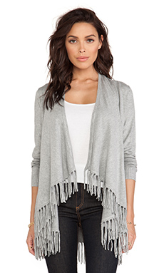 Central Park West Saratoga Cardigan in Heather Grey