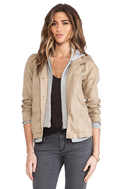Central Park West Sahara Hooded Jacket in Linen