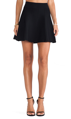 Central Park West Troy Skirt in Black