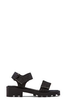 Cheap Monday Go Velcro Sandal in Black