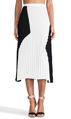 Charles Henry Pleated Skirt in Black & White