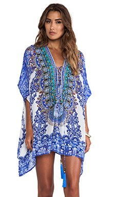 Camilla Short Lace Up Kaftan in Nierika