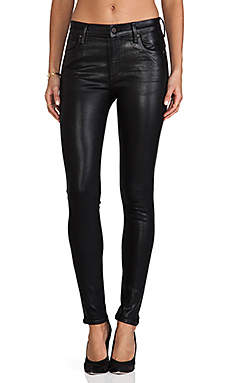 Citizens Of Humanity Rocket High Rise Coated Skinny in Black