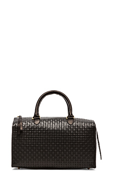 Clare V. Sandrine Bucket in Black Basket Weave