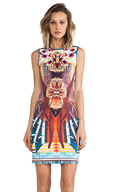 Clover Canyon Furniture Weave Neoprene Dress in Multi