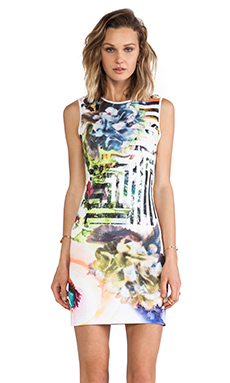 Clover Canyon Floral Maze Neoprene Dress in Multi