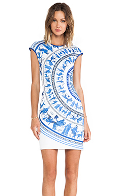 Clover Canyon Corinthian Vase Neoprene Dress in Multi