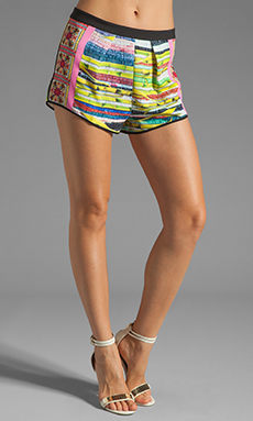 Clover Canyon Surf Shack Soft Suiting Short in Multi