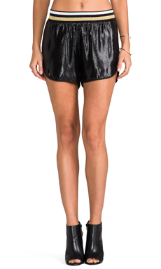 Clover Canyon Metallic Shorts in Black