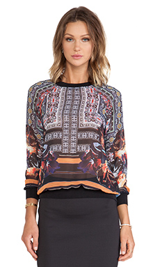 Clover Canyon Irish Box Chiffon Sweatshirt in Multi